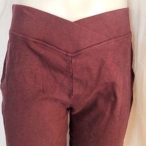 SEDUCTIONS - Low Rise Rust colour yoga pants